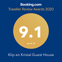 Booking.com 9.1 2020 Award Klip en Kristal